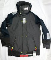 New Helly Hansen Offshore Jacket 2 Ebony Color Helly Tech Professional Size L