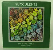 NIB Galison Succulents Rainbow 500 Piece Puzzle Jen Tao 20x20