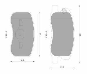 Bosch Front Brake Pads DB1796BL
