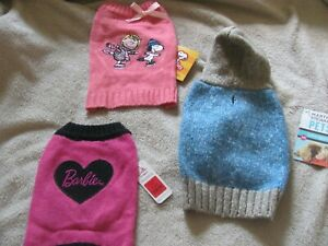 NEW - X-SMALL Dog Puppy Clothes Lot of 3