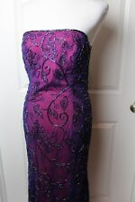 Sean Collection Formal/Prom Beaded Strapless Dress Size L  MG *