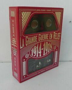 """COFFRET """" LA GRANDE GUERRE EN RELIEF 1914/1918 """" Lunette, Photographies, Album"""