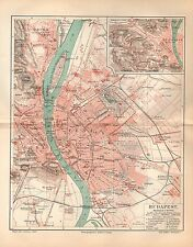 BUDAPEST Stadtplan v. 1893 Ofen Elisabethstadt Altofen Theresienstadt Franzstadt