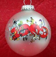 Warner Bros Looney Tunes 2000 Millennial Ornament Millooneyum Christmas Glass