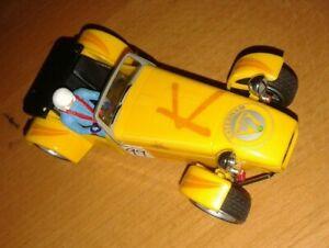 Scalextric Caterham 7 good working order - yellow