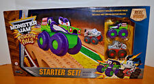 MONSTER JAM TRUCKIN' PALS STARTER SET WOODEN TRUCK TOY TRACK THOMAS TRAIN