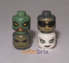 4x Lego Star Wars Bounty Hunter Heads, Embo, Hondo, Shahan, Aurra Sing lot209