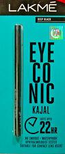 Lakme Eyeconic Kajal Black White Lasts 22 Hours FREE SHIPPING US & UK .35gm