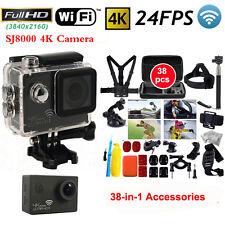Action Camera SJ8000 4K 24FPS Wifi Sports Cam HD DV+38-in-1 Accessories Bundle