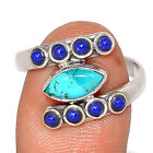 Kingman - Blue Mohave Turquoise & Lapis 925 Silver Ring Jewelry s.8.5 BR107215