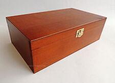 Nuevo Grande Hecho a mano marrón Madera Caja para piezas de ajedrez