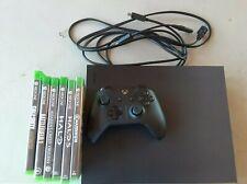 Microsoft Xbox One X Project Scorpio Edition 1TB Console - Black with games