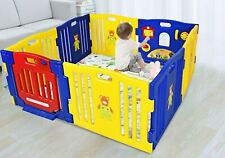 8 Panel Kids Play Yard Baby Playpen Safety Center Home Indoor Outdoor Pen Fence