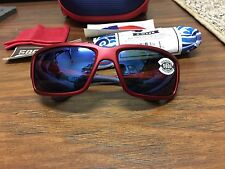 COSTA DEL MAR FANTAIL - USA EDITION - TF113 OBMGLP BLUE 580G LENS RED FRAME