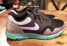 Nike Lunar Safari Fuse Mens size 8.5 M black/silver/purple/green 525059-073
