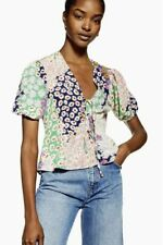 NEW Topshop Austin Floral Print Angel Sleeve Top UK 10 BNWT Bloggers SOLD OUT
