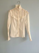 BLOUSE LAURA ASHLEY BRODEE 34/36  VICTORIENNE VINTAGE