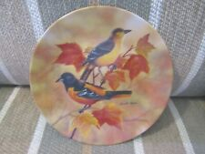 Russell Cobane Glorious Songbirds Baltimore Orioles Among Autumn Leaves Plate