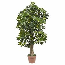 Nearly Natural 5305 4 Schefflera Silk Tree (Real Touch) NEW