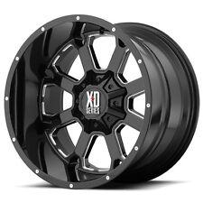 "20"" 20x10 KMC XD Buck XD825 Gloss Black Wheels Rims 8x170 Ford F250 F350 8 lug"