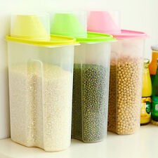 2.5L Plastic Kitchen Food Cereal Grain Bean Rice Storage Box Container Box Case