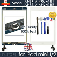 White For iPad mini 1 2 Retina Screen Touch Digitizer Replacement Home Button IC