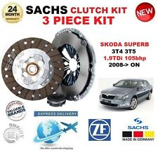 FOR SKODA SUPERB 3T4 3T5 1.9TDi 105bhp 2008-> SACHS 3 PIECE NEW CLUTCH KIT BOXED