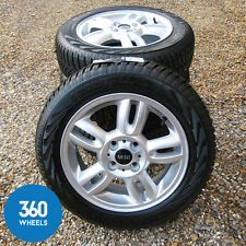 "NEW GENUINE MINI 15"" 5 STAR TWIN SPOKE R118 ALLOY WHEELS WINTER TYRES SNOW R55"