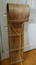 "Vintage Wood Toboggan 48"" inch long in amazing condition"