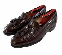 Johnston & Murphy Mens Alsfeld Loafers Brown Tassel Dress Shoes 24-93720 Sz 9.5D