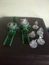 BEN 10 ALIEN FORCE 2 DELUXE OMNITRIX PROJECTOR WATCH WITH 6 CRYSTAL TOPPERS VGC