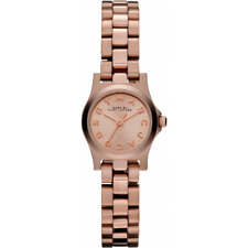 NEW MARC JACOBS MBM3200 LADIES ROSE GOLD DINKY WATCH - 2 YEARS WARRANTY