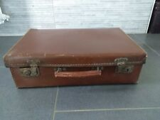 BELLE VALISE ANCIENNE CUIR IMPORT D'ANGLETERRE * 52