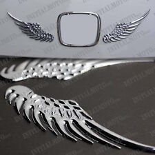SUV Truck Car Rear Tail Trunk Chrome Angel Wings Metal Logo Emblem Decal Sticker