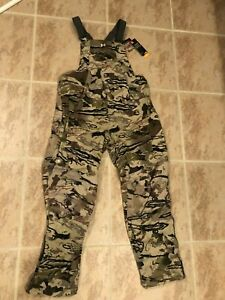 NWT $180.00 Under Armour Women CG Storm Grit Bib Pants Ridge Reaper Barren LARGE