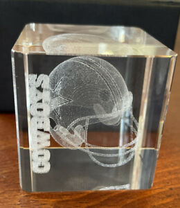 Dallas Cowboys Hologram crystal Paperweight Brand New original packaging 11oz