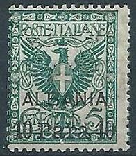1902 LEVANTE ALBANIA AQUILA 10 PA SU 5 CENT MNH ** - W017-2