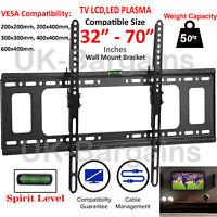 TV Wall Bracket Mount TILT Slim for 32 40 42 50 55 60 65 70 Inch Plasma LED LCD
