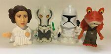 4 Star Wars 2005 Burger King Toys - General Grievous, Leia, Trooper, Jar Jar