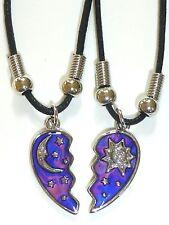 NEW BEST FRIEND Half Heart MOOD Sun Moon Star Pendants 2 Necklace BFF Friendship