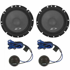 "2) Alpine SXE-1751S 280W 6.5"" 2-Way Component Car Audio Speakers"