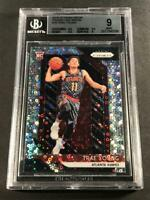 TRAE YOUNG 2018 PANINI PRIZM #78 FAST BREAK REFRACTOR ROOKIE RC BGS 9