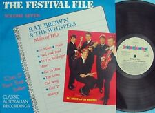 Ray Brown & Whispers ORIG OZ LP Festival File Miles of hits NM '88 Garage Beat