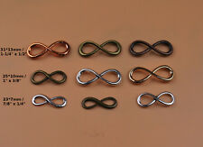 Infinity Sign Charm Pendant Figure Eight Eternal Love Symbol Bracelet Connector