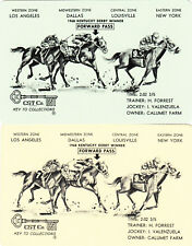 #75 2 (pair) vintage single playing swap cards - Horses - Kentucky Derby -JS