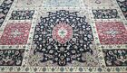 FINE INDO-TABRIZZ HAND-KNOTTED WOOL GARDEN DESIGN ORIENTAL RUG CLEANED 9 x 12