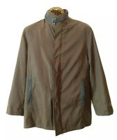 Emporio Armani Brown Men's Jacket Lined Button Coat Size XL