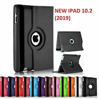 For iPad 10.2'' 7th Generation (2019) Case 360°Rotate PU Leather Stand Cover