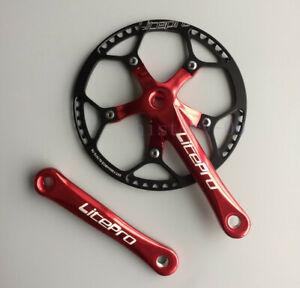 Litepro Road Folding MTB Bike crank arm 170mm Crankset Chainring 45/47/53/56/58T