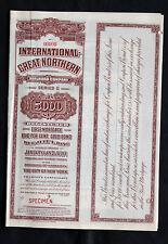 International Great Northern Railroad $5000 series C Bond issued 1922